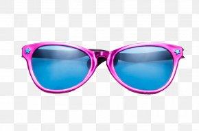 Blue Lens Glasses - Goggles Sunglasses Blue PNG