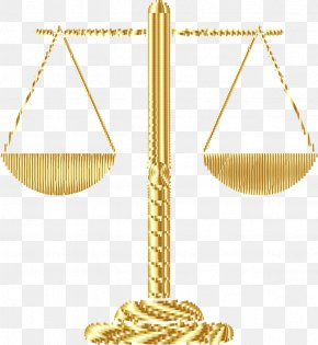 Gold - Measuring Scales Lady Justice Court Clip Art PNG