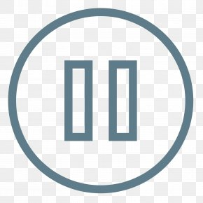 Pause Button - Logo Trademark Symbol Circle Brand PNG