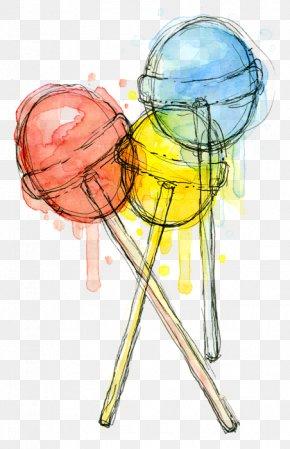 Candy Shop - Lollipop Gummy Bear Candy Art Watercolor Painting PNG