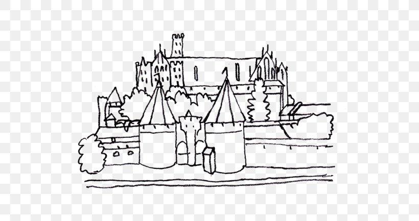 - Malbork Castle Colouring Pages Coloring Book, PNG, 579x433px, Malbork Castle,  Area, Artwork, Black And White, Castle