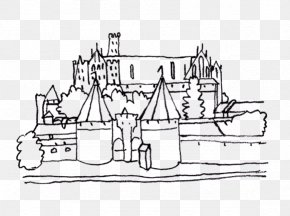 Castle Clipart - Malbork Castle Colouring Pages Coloring Book PNG