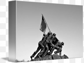Iwo Jima - Marine Corps War Memorial Raising The Flag On Iwo Jima Battle Of Iwo Jima Mount Suribachi Black And White PNG