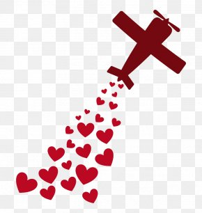 Plane And Love Photos - Airplane Love Heart Romance PNG