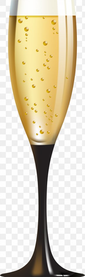 Champagne Glass - White Wine Champagne Cocktail Clip Art PNG