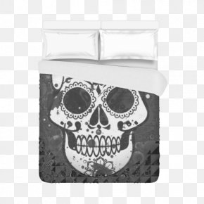 Skull - Skull And Crossbones Calavera Carpet Day Of The Dead PNG