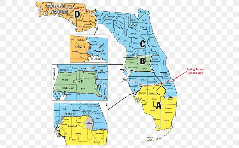 Florida Time Zone Map Florida Hunting Season Time Zone Map, PNG, 600x509px, Florida