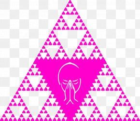 Pink Triangle - Fractal Sierpinski Triangle Drawing Hexagon Clip Art PNG