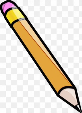 Writing Implement Softball Bat - Clip Art Yellow Pencil Line Softball Bat PNG