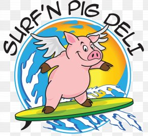 Surf'n Pig BBQ Barbecue Grill Pulled Pork Clip Art Domestic Pig PNG