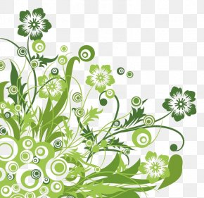 Green Floral - Flower Floral Design Clip Art PNG