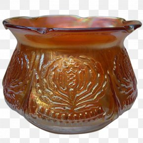 Pot Marigold - Carnival Glass Bowl Spittoon Brockwitz Marigold PNG