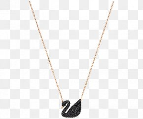 Swarovski Crystal Necklace Jewelry Women's Black - Necklace Pendant Chain Body Piercing Jewellery PNG