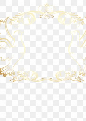 Vintage Gold Lace Border Vector Pattern - Area Pattern PNG