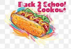 Cookout Wood Cookout Background - Hot Dog Vector Graphics Illustration Art PNG