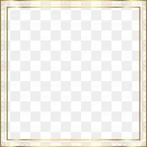 Gold Border Frame Clip Art Image - Image File Formats Lossless Compression PNG