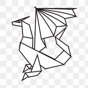 Black Dory Cliparts - Line Art Dragon Clip Art PNG