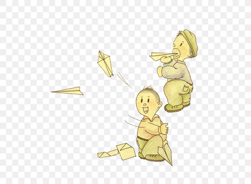 Airplane Paper Plane Flight Northrop Grumman B-2 Spirit, PNG, 600x600px, Airplane, Ala, Art, Cartoon, Child Download Free