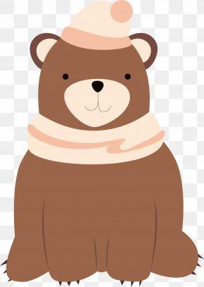 Lovely Brown Bear Vector - Dog Brown Bear Winter PNG