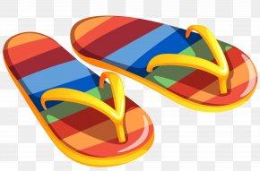 Transparent Beach Flip Flops Clipart - Flip-flops Sandal Clip Art PNG