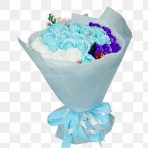 Blue Flower Soap - Blue Flower Bouquet Nosegay Floristry PNG