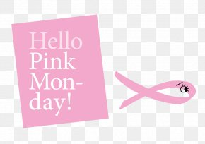 Hello Monday - Brand Greeting & Note Cards Logo Pink Ribbon PNG