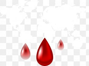 Vector Blood Drop With Map - Euclidean Vector Blood PNG