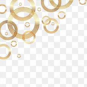 Vector Golden Ring - Circle Gold Euclidean Vector PNG