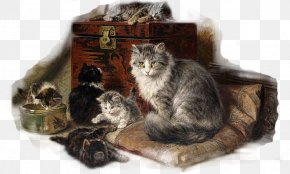 Girafa - Kitten Maine Coon Fat Cat Art: Famous Masterpieces Improved By A Ginger Cat With Attitude Whiskers Painting PNG
