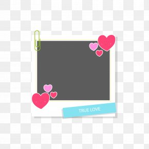 Red Heart-shaped Photo Frame - Area Rectangle Brand Heart Pattern PNG