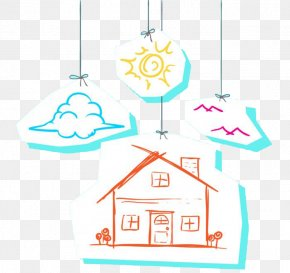 Sun Clouds House Picture Material - Painting Download Silhouette Adobe Illustrator PNG