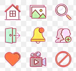 Number Line Art - Pink Text Line Circle Font PNG