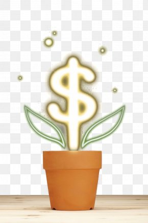 Long Dollar Pot - Delaware Flowerpot Yellow PNG