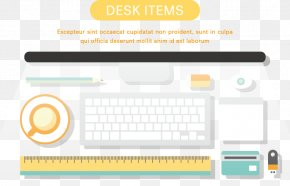 Vector Illustration Computer And Its Accessories - Computer Download Illustration PNG