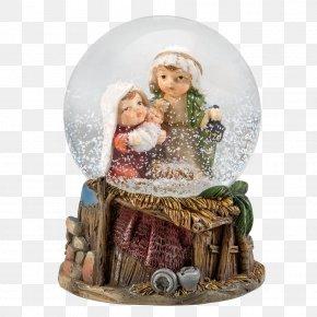 Snow Kids - Nativity Scene Christmas Ornament Snow Globes Nativity Of Jesus PNG