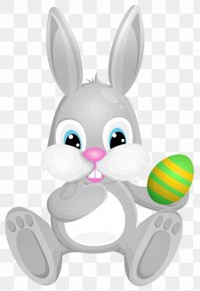 Easter Grey Bunny Clip Art Image - CGP Grey Clip Art PNG