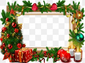 Christmas Frame Free Download - Christmas Card Picture Frame PNG