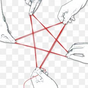 Line Hand Fight Pentagram - Teamwork Business Poster Collaboration PNG