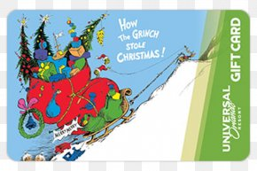 Dr Seuss - How The Grinch Stole Christmas! Christmas Card Greeting & Note Cards PNG