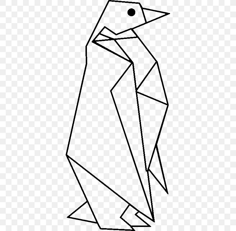 Penguin origami paper animal Royalty Free Vector Image | 800x820