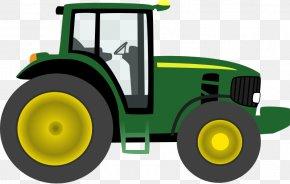 Yellow Tractor Cliparts - John Deere Clip Art: Transportation Tractor Free Content Clip Art PNG