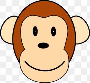 Monkey Face - Monkey Ape Chimpanzee Clip Art PNG