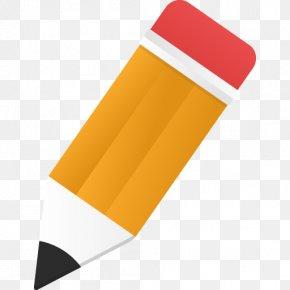 Edit Icon Orange Pencil - Editing Icon Design Download PNG