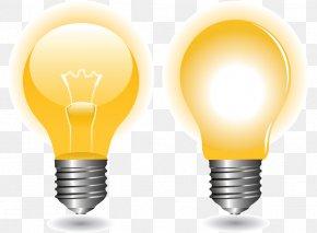 Vector Bulb - Incandescent Light Bulb Euclidean Vector LED Lamp PNG