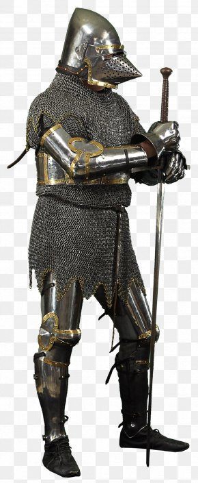 Armour - Middle Ages Knight Components Of Medieval Armour Clip Art PNG