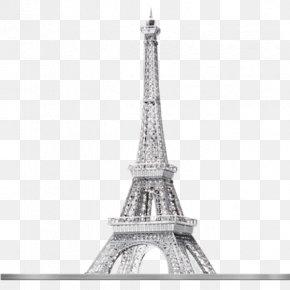 Eiffel - Eiffel Tower Big Ben Chrysler Building Puzz 3D Metal PNG