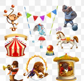 Circus Animal Pictures - Circus Cartoon Illustration PNG