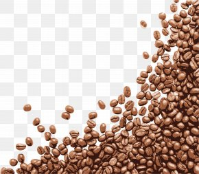 Hand Painted Brown Coffee Beans - Coffee Bean Cappuccino Cafe PNG