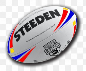 Rugby Ball - National Rugby League Ball Manly Warringah Sea Eagles Steeden Canberra Raiders PNG