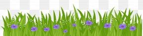Grass With Purple Flowers Transparent Clip Art Image - Flower Grasses Clip Art PNG